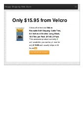 Velcro offer the best reusable selfgripping cable ties 0 only 1595 reviews