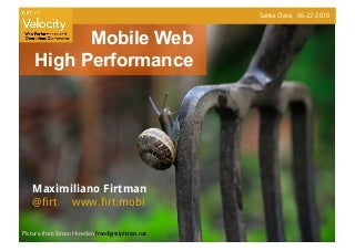 Mobile Web High Performance