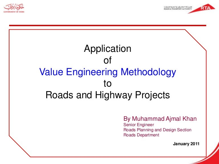 Value engineering for roads highways project ccuart Images