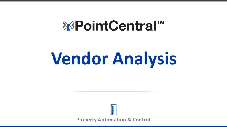 Vendor Analysis  Page