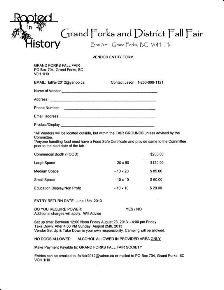 vendor application form. Black Bedroom Furniture Sets. Home Design Ideas
