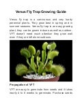Venus flytrap growing guide