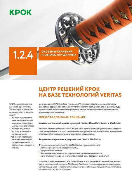 Центр решений КРОК на базе технологий Veritas