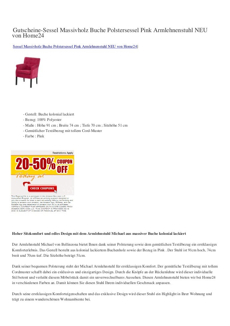Verkaufen Gutscheine Sessel Massivholz Buche Polstersessel
