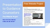 Version 2 presentation to  guidance counselors about the FREE WEBSITE PROJECT (Digital Portfolios)