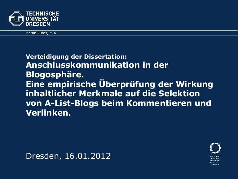 dissertation verteidigung folien