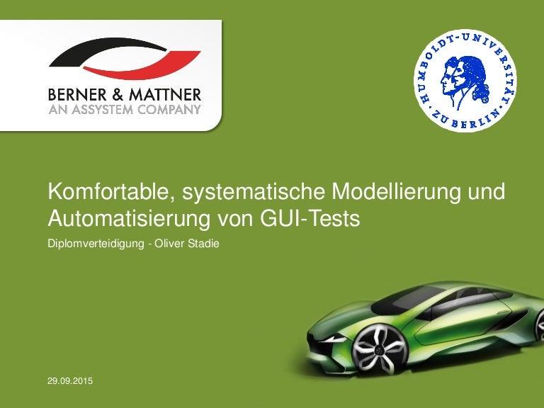 Komfortable, systematische Modellierung und Automatisierung von GUI-T…