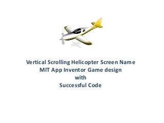 Vertical scrolling Screen mit app inventor