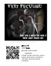 Very Peculiar QR Code Sign