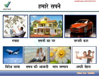 Vestige Marketing Success Business Plan in Hindi. Free Download PDF PPT Power Point Presentation. Latest New 2016.URTSAM