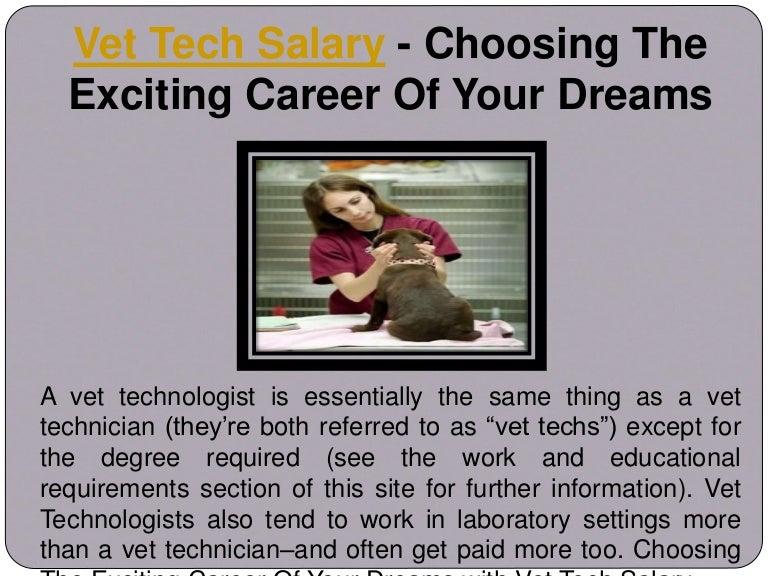 vet technician salary