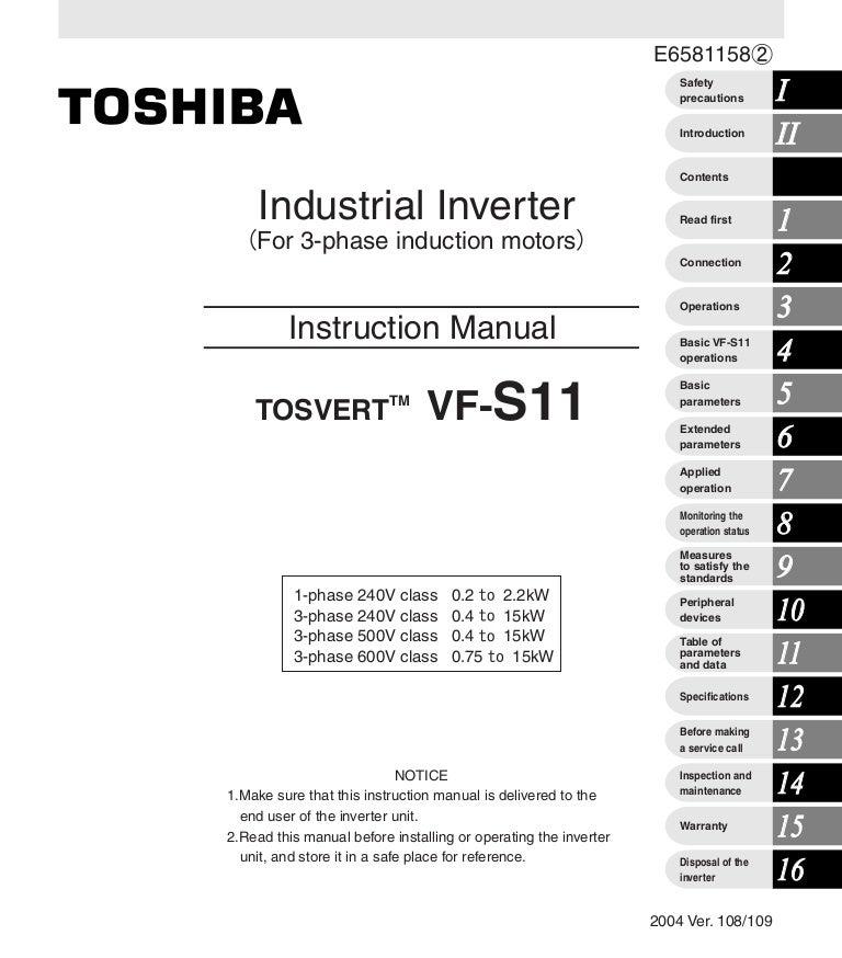 vf s11 instruction manual rh slideshare net toshiba user manual tv toshiba user manual tv