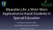Wearable Life: a Wrist-Worn Application to Assist Students in Special Education