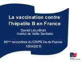 La vaccination contre l'hépatite B