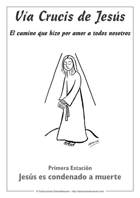 Via Crucis Para Colorear