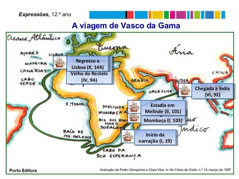 mapa vasco da gama Viagem Vasco da Gama (mapa) mapa vasco da gama