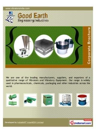 Good Earth Engineering Industries, Mumbai, Rotary Electric Vibrators