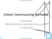 Victim service pres 12 may sb event