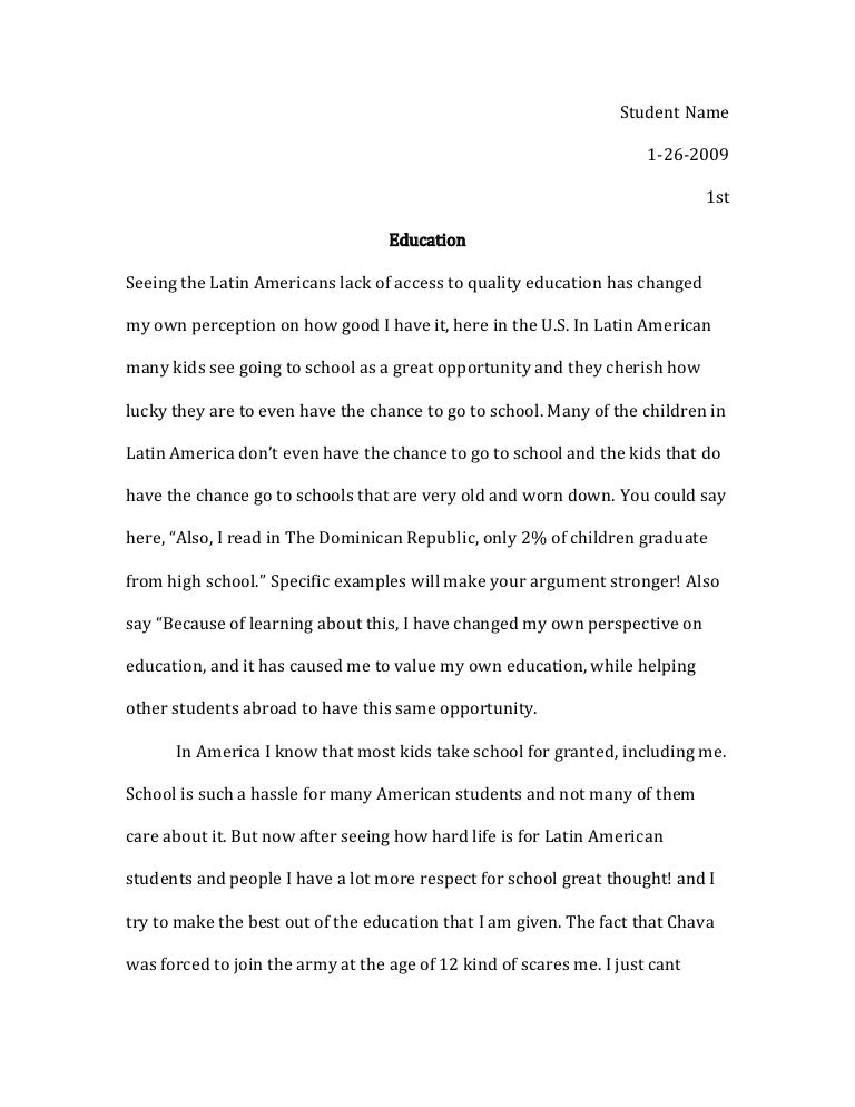 my school essay for class 10