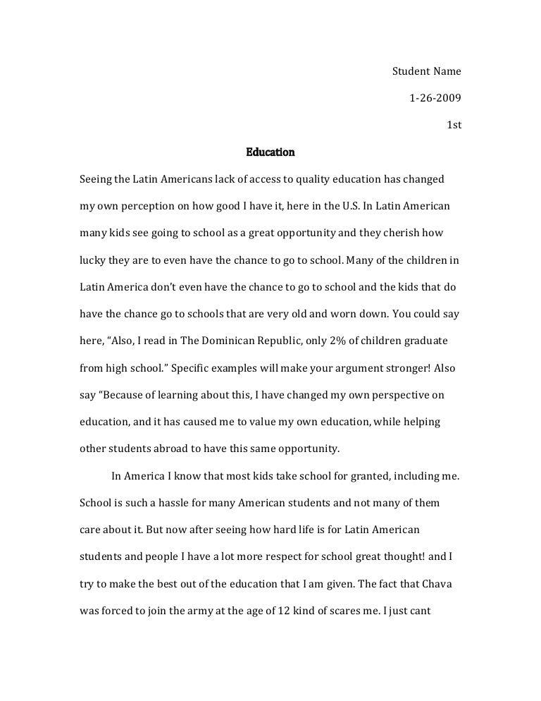 my school essay for class 10