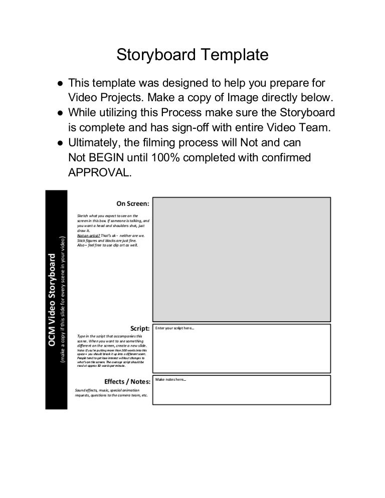 Video Open-Storyboard-Template