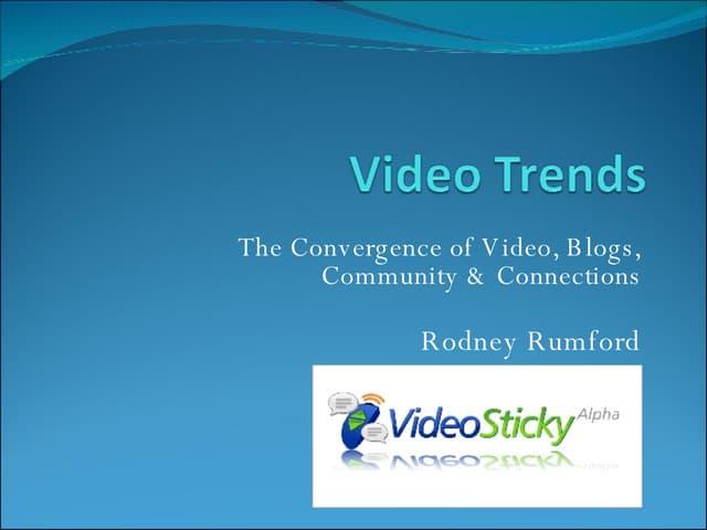 Video Trends Sobcon 2007