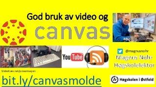 God bruk av Video og Canvas
