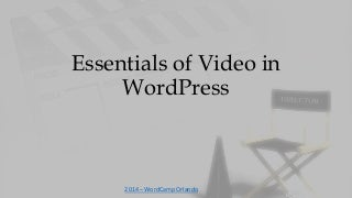 Video for word press