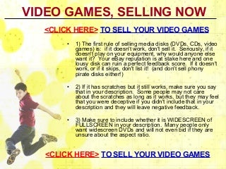 Video Games Selling