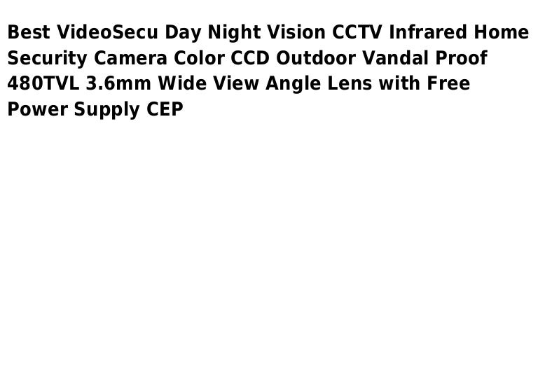 Video secu day night vision cctv infrared home security camera color …