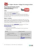 Social media guide : YouTube & Video for higher/further education colleges