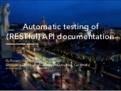 vienna.js - Automatic testing of (RESTful) API documentation