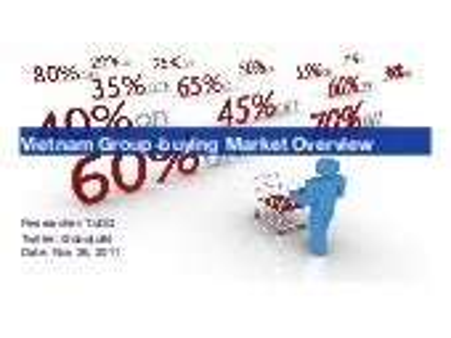 Vietnam groupbuying market overview 2010-2011