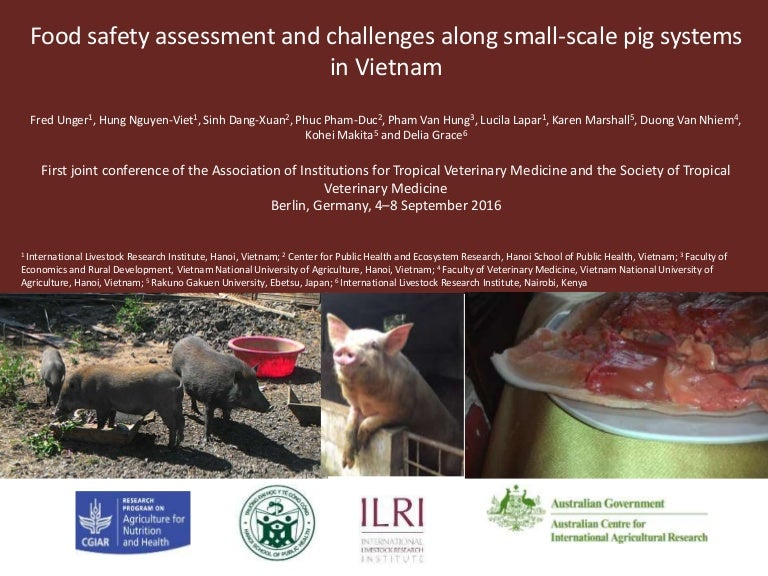 Food Safety Assessment And Challenges Along Small Scale Pig Systems I