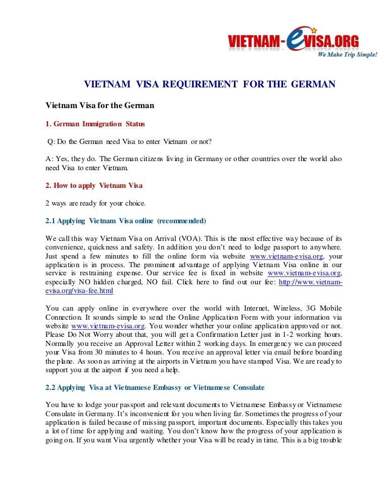 Vietnam Visa For The German Discount 20 With Code 9kt151