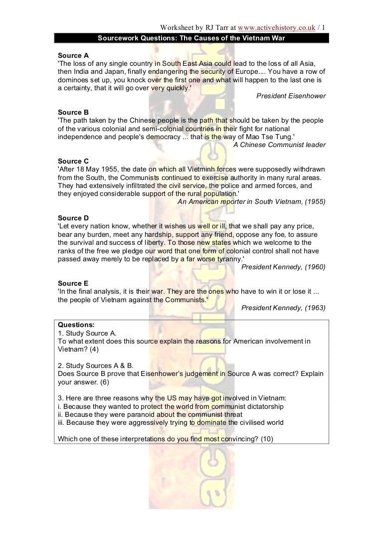 worksheet Vietnam War Worksheet joindesignseattle Worksheet Site – Vietnam War Worksheets
