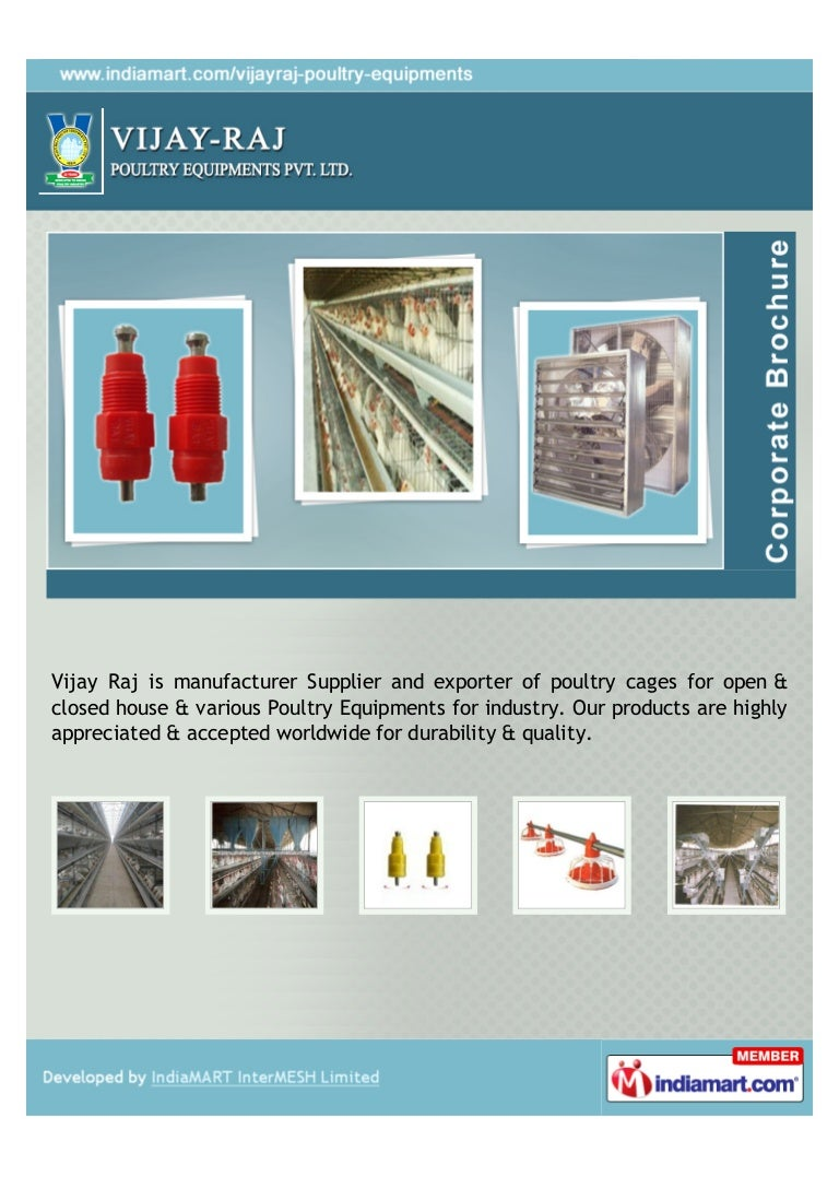 Vijay Raj Poultry Equipments Private Limited, Hyderabad, A