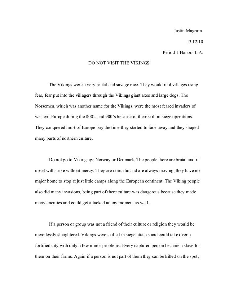 The age of the vikings essay