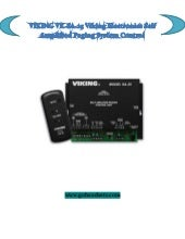 VIKING VK-SA-25 Viking Electronics Self Amplified Paging System Control