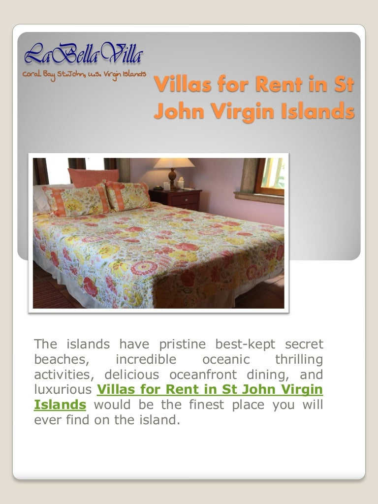 st john virgin islands villas