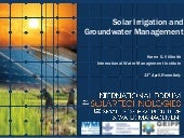 Solar Irrigation and Groundwater Management