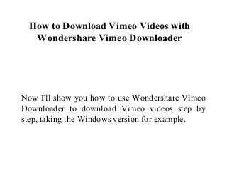 The Best Download Video From Vimeo