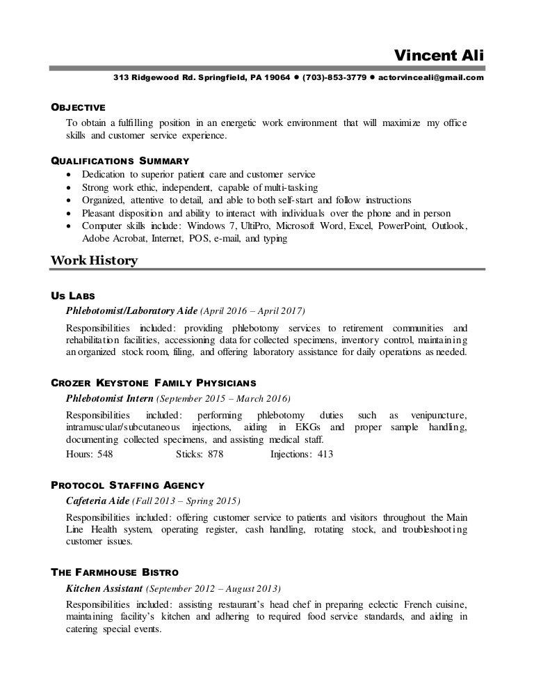 cafeteria aide sample resume cafeteria aide sample resume