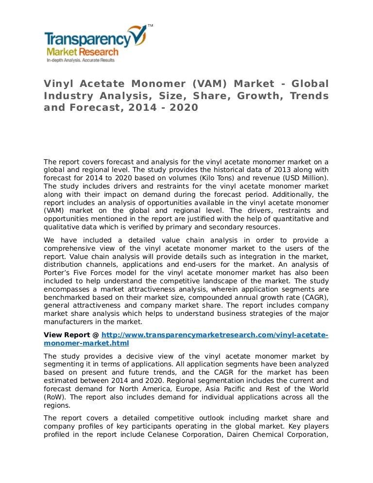 Vinyl Acetate Monomer Market 2014 Share Trend