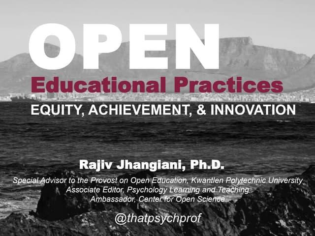 Virginia Tech Open Education Week keynote