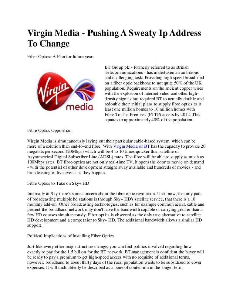 Virgin Media Ip Address >> Virgin Media Pushing A Sweaty Ip Address To Change