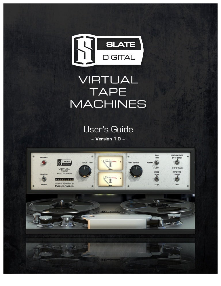 Virtual tape machines user manual. Pages.