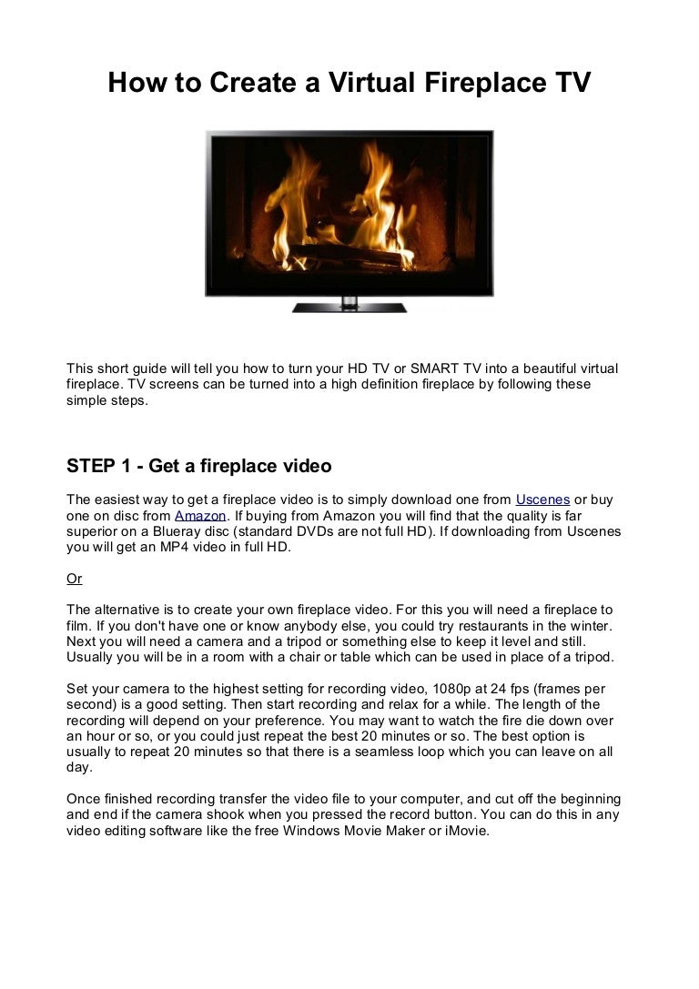 virtual fireplace tv