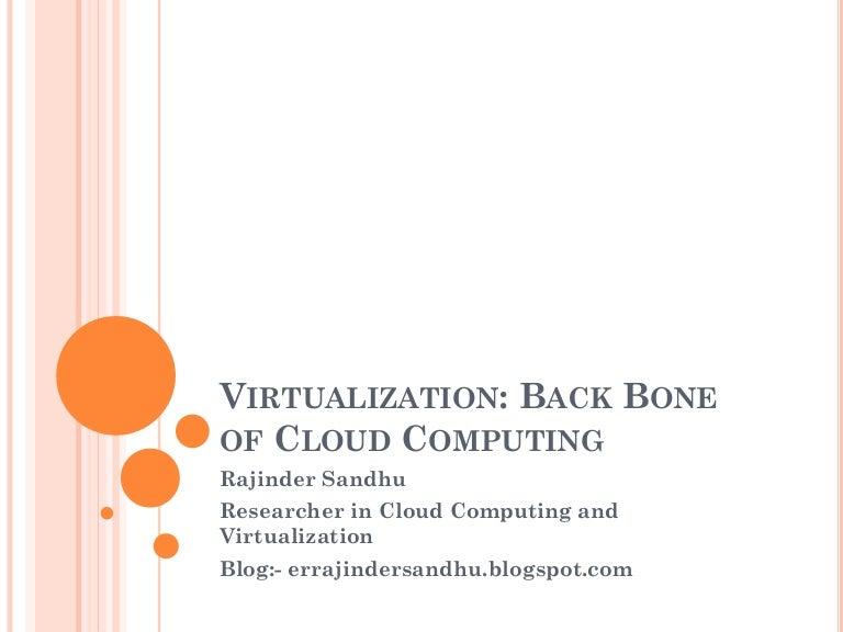 Virtualization and Open Virtualization Format (OVF)