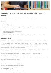Virtualization with KVM and openQRM 5.1 on Debian Wheezy